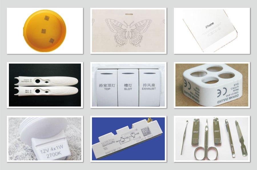 UV laser markers of marking samples